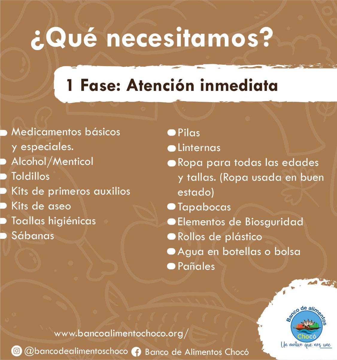 Con tu ayuda beneficiarnos a muchas personas que lo perdieron todo a causa de la ola invernal @BancodeC #UnMotivoQueNosUne #SOSChoco