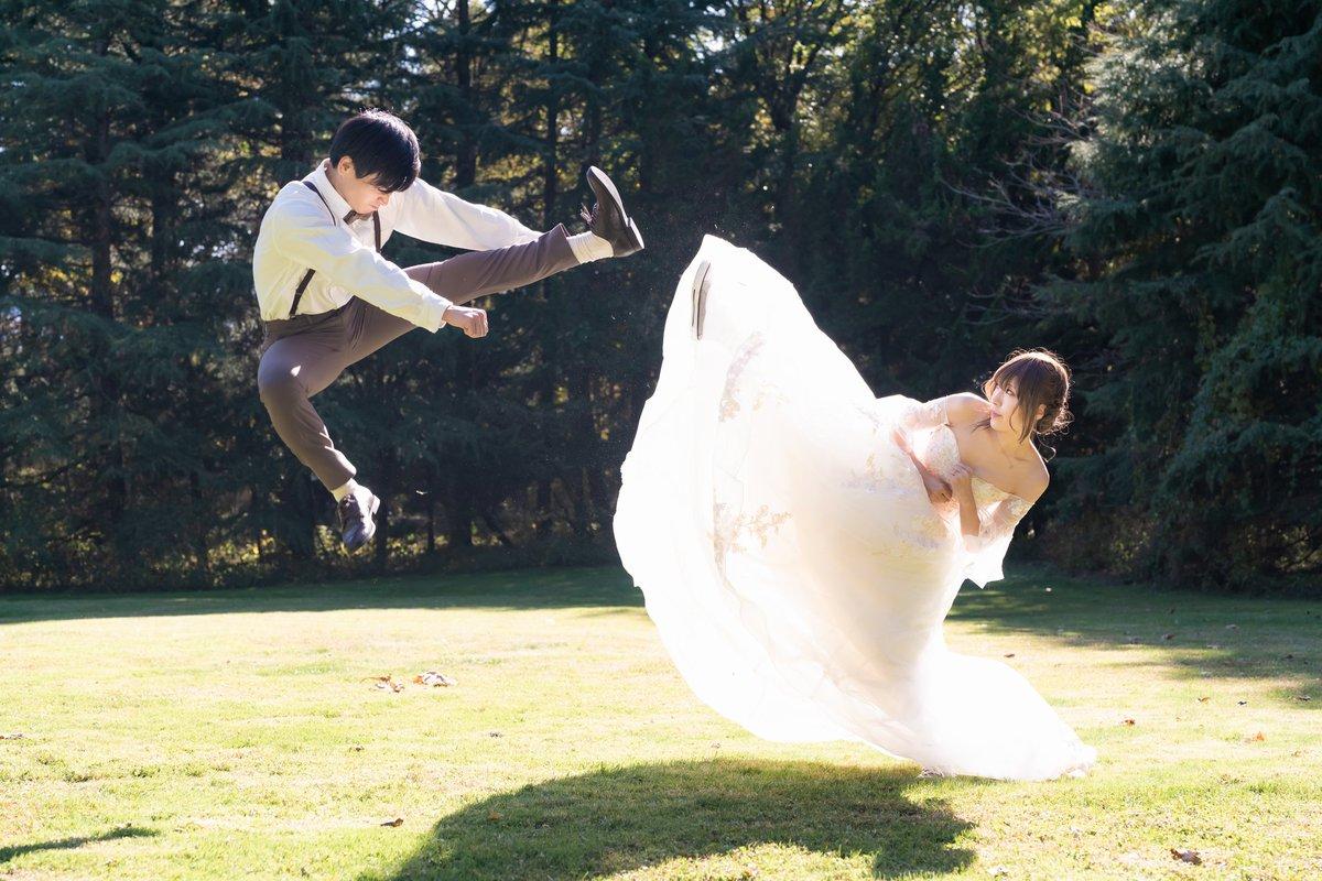 いい夫婦の日に便乗!今年で結婚して10年経ったよ!記念撮影でも真面目な撮影無理で吹き出しちゃうから、こういうのが丁度良い✨