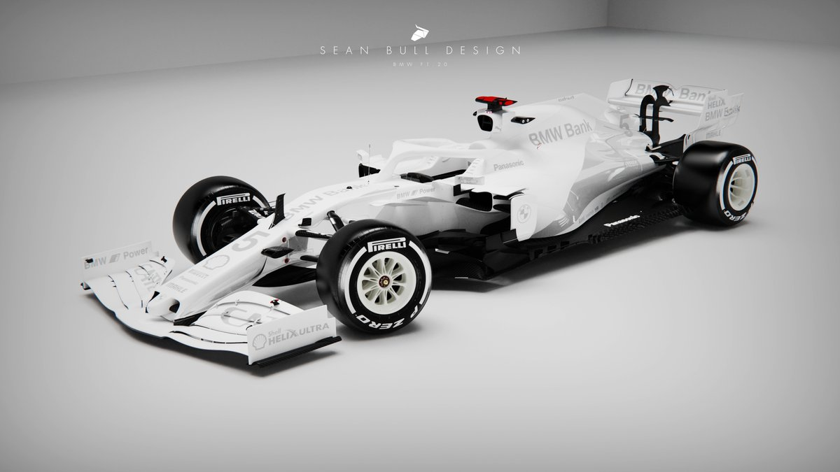 2021 BMW F1 Testing Livery concept  matte, metallic and gloss whiteout elements for a unique testing look inspired by the world of fashion  3D Model by @Racesimstudio #BMW #F1 #F12020 #Formula1 #LiveryDesign https://t.co/0I7grscwIA