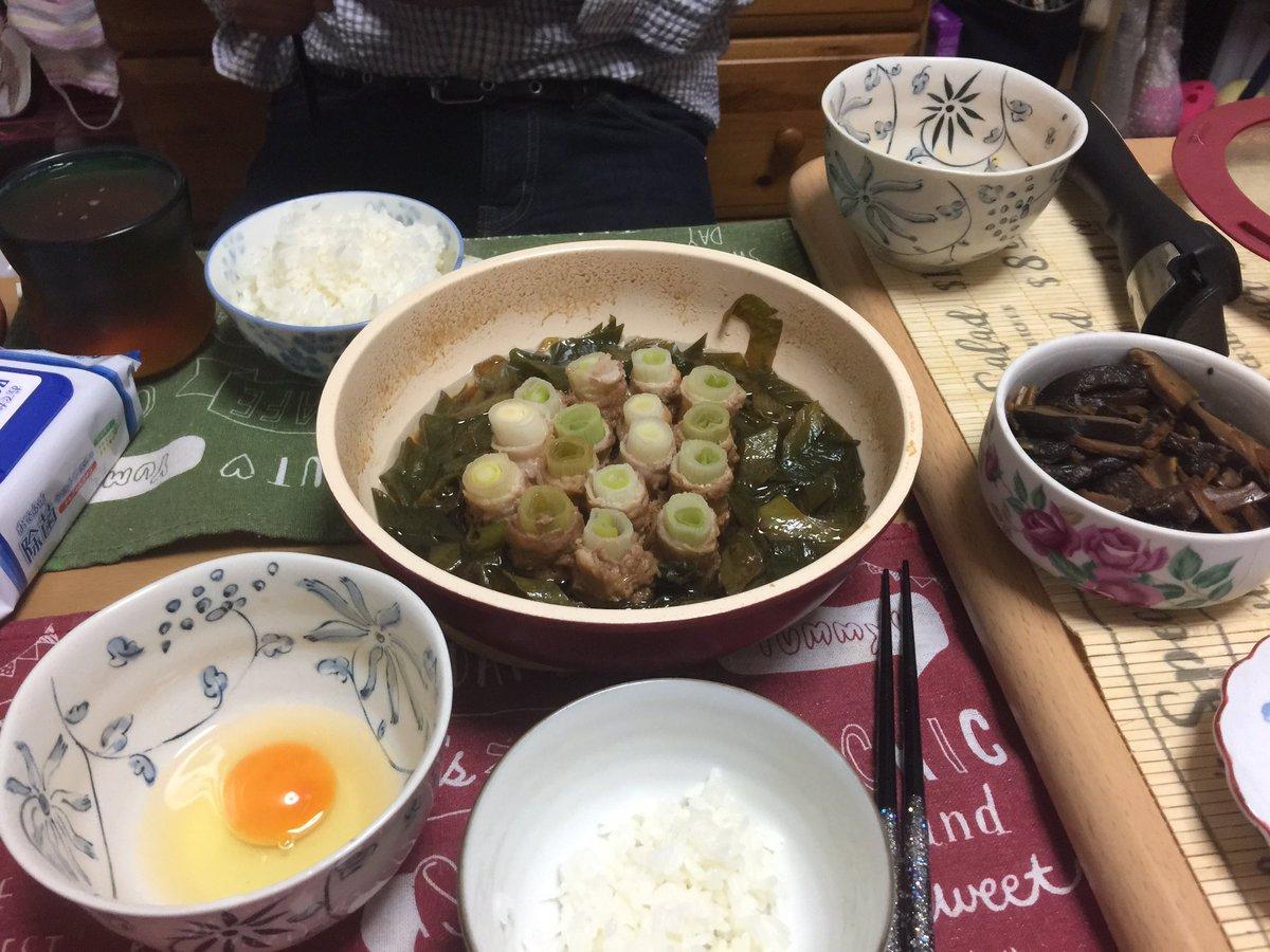 🌸#お家ごはん 🌸#クラシルレシピ から、長ねぎのまきまき豚すき焼き #DELISHKITCHEN レシピから、干ししいたけの生姜佃煮 おやつは、フルーチェ#減塩生活 #病気と付き合っていこう #フルーチェ大好き