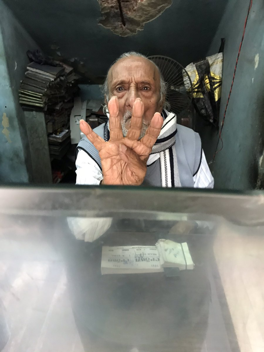 Today I went buying tickets of Single Screen Cinemas...the films didn't matter...I found this 90 year old man selling tickets trying to save his Cinema...I was so moved.