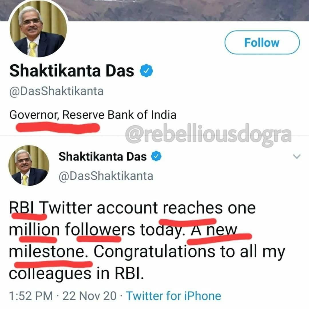 Indeed what an achievement for @RBI when many of the banks have collapsed and are under moratorium & Economy is in ICU !   Well done @DasShaktikanta 👏🏼👏🏼👏🏼 https://t.co/Q3QcRgPxil