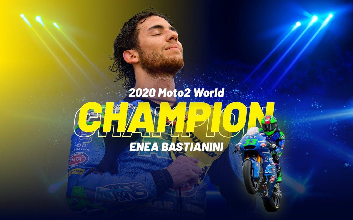 Congratulazioni @eneabastianini 👏🏼 World Champion Moto2 👏🏼 https://t.co/h8T0ndhj9m
