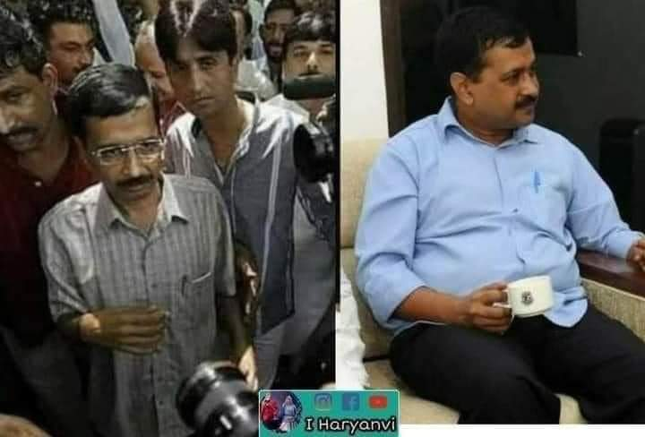 Story of Kejriwal - From a malnourished anti-corruption crusader who fooled the public to become a healthy fat power hungry politician 😂🤣 https://t.co/W8UxYyTCOA