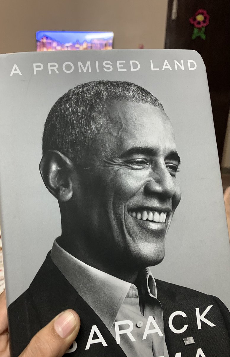 And @BarackObama is here! Can't wait to read #APromisedLand! :) legacy @penguinusa @VikingBooks