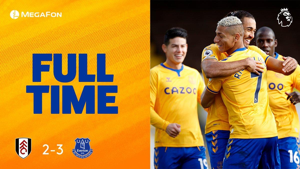 RT @Everton: FT. Back to winning ways! 😅✊  ⚪️ 2-3 🔵 #FULEVE https://t.co/gIFAi19v7U