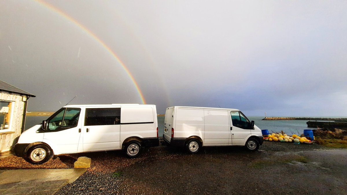 Wonder if there is a pot of gold in the back of my van...? 💰🌈🙃 #OuterHebrides