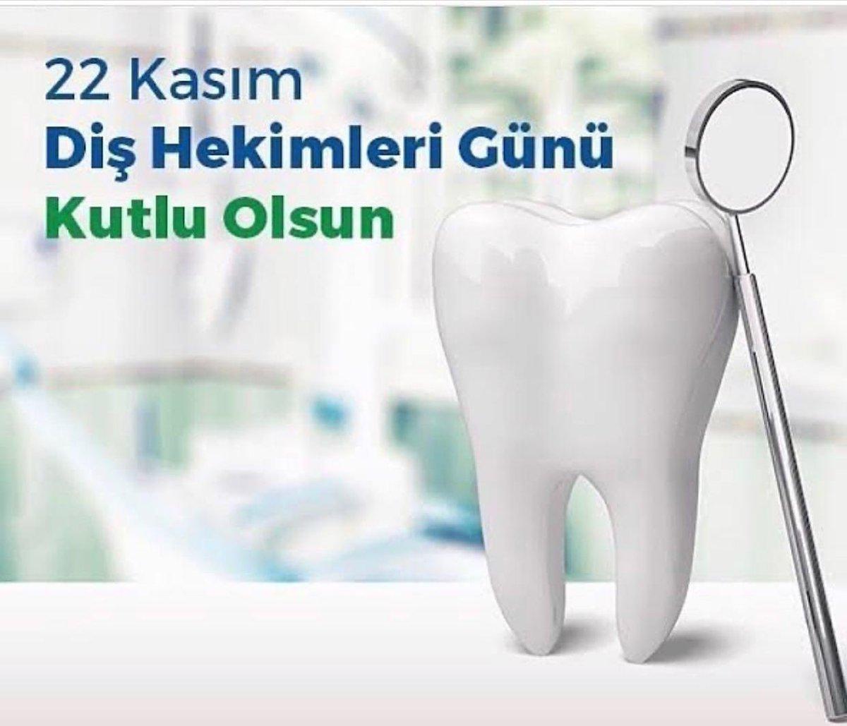 Ağız ve diş sağlığımızın korunması ve sağlıklı gülümsememiz için çalışan bütün diş hekimlerimizin 22 Kasım Diş Hekimleri Günü ile Toplum Ağız ve Diş Sağlığı Haftası kutlu olsun.🦷🦷🦷 https://t.co/a4iwjxVE3C