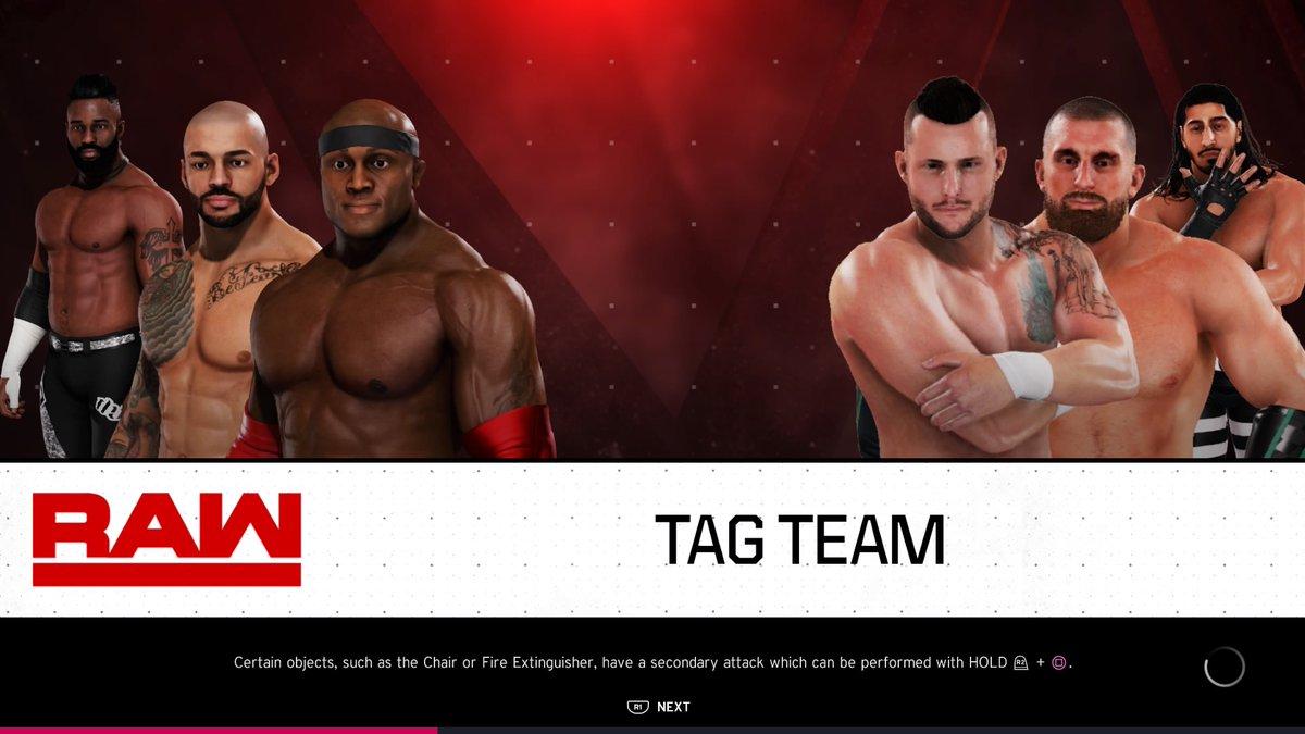 #TheHurtBusiness' #Ricochet & #BobbyLashley take on #RETRIBUTION members #ShaneThorn & #MojoRawley!  Watch live at 5pm GMT.  https://t.co/EjJ3o4uHJ4  #WWE #2K20 #WWE2K20 #RAW #WWERAW #NXT #WWENXT #SmackDown #Wrestle #Wrestling https://t.co/ErR37H9MSO