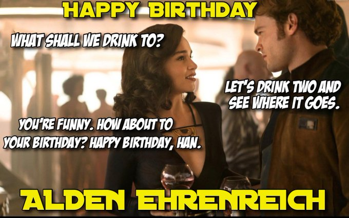 Happy to Alden Ehrenreich! What was your favorite moment from the movie?