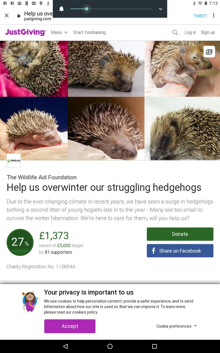 @rickygervais @galgos_GIN @AllDogsMatter @Nowzad @themayhew @Paws2RescueUK @wildlifeaid @AnimalsAsia #ThankYouSirRicky Donated to @wildlifeaid to help hedgehogs which are in decline. Thanks for tonight's broadcast 👌