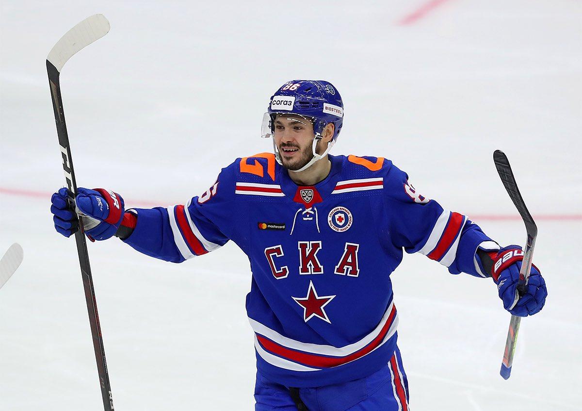 So far this 20/21 season...  Kirill Marchenko (SKA St. Petersburg (KHL) GP: 19 G: 6 A: 5 P: 11  Yegor Chinakhov (Avangard Omsk - KHL) GP: 25 G: 7 A: 6 P: 13  Prospects.  #CBJ #NHL https://t.co/hndkag43yC