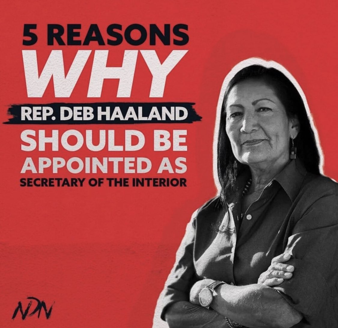 Help us get @RepDebHaaland appointed to head the Department Of Interior. @sunrisemvmt