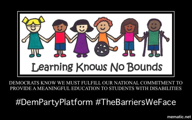 And, with increasing frequency, students are being unnecessarily and unlawfully segregated by disability, language status and through the use of exclusionary discipline and school-based arrests. 5/13  #DemPartyPlatform  #EducationForAll  #EndSchoolToPrisonPipeline