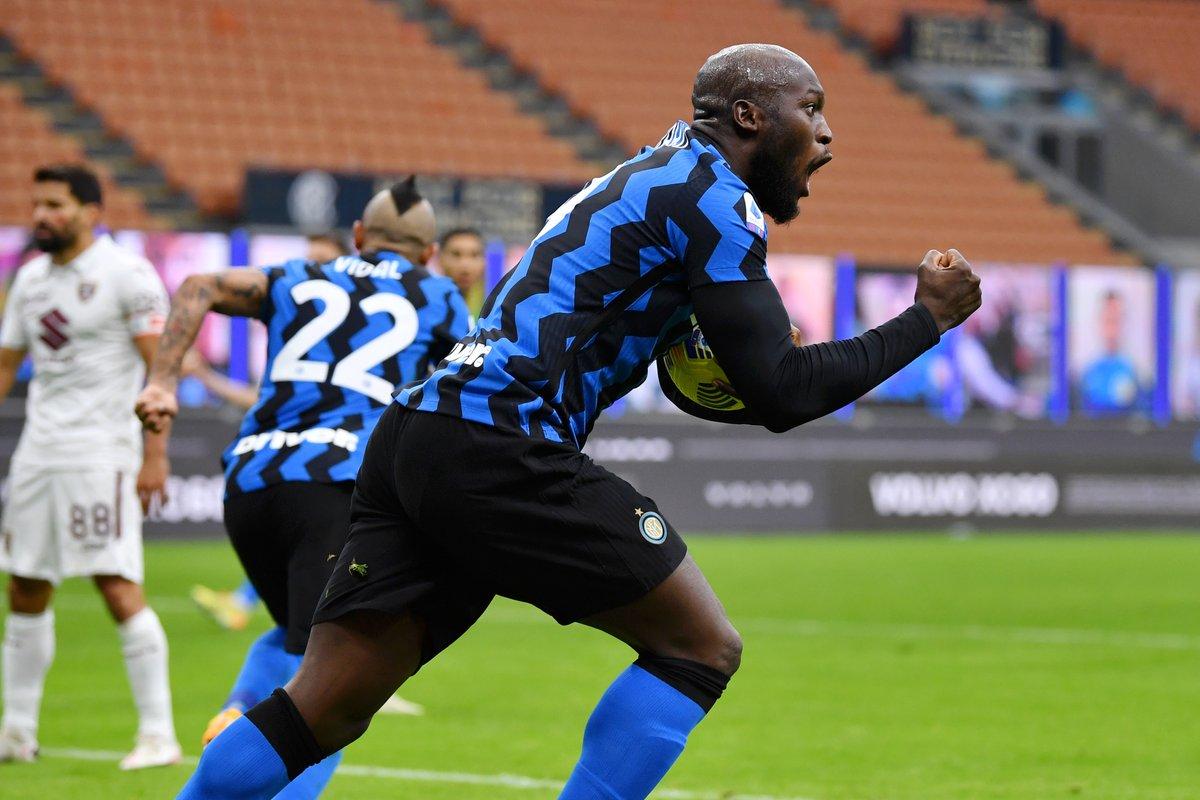 Romelu Lukaku has 7⃣ goals in 7⃣ Serie A games after scoring twice in a comeback win for Inter. 👊💥  #UCL