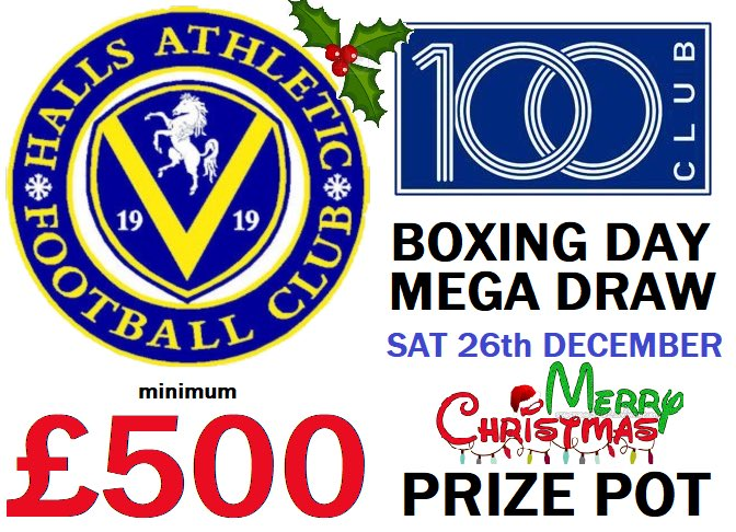 test Twitter Media - Sign up here > https://t.co/c4qsiFRTqZ   Don't miss out...get your number & win big with a MIN prize pot of £500 🤑 for our very first BOXING DAY DRAW🎄 REAL LIVE DRAWS monthly on the last Saturday with VIDEOS published online - all great fun! questions to 100club@hallsafc.co.uk https://t.co/ebGj38Xduj