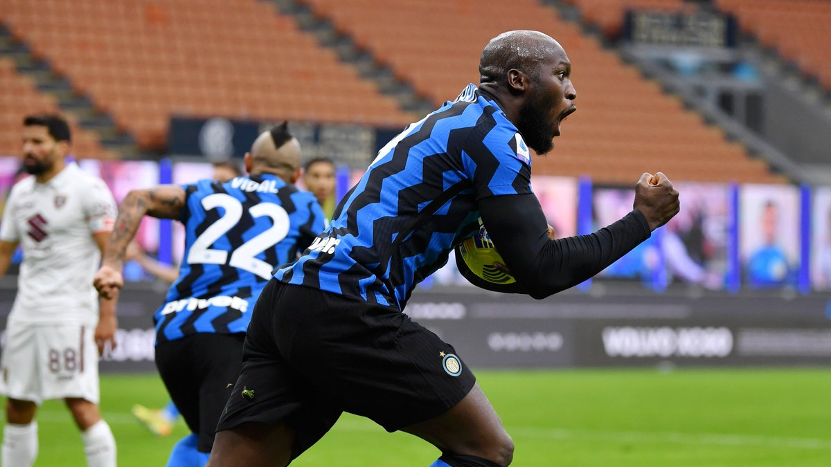 🖤💙 @RomeluLukaku9 scores two & creates the other two as @Inter_en, who were 2-0 down with just over an hour played, win 4-2. The @BelRedDevils striker has 7 goals in 6 @SerieA_EN starts this season. What a player! 🤩