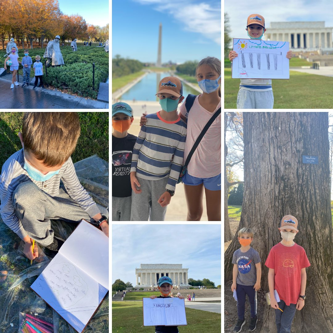 Some fun Sunday field trips visiting and sketching memorials, monuments and more in DC!  📍Lincoln Memorial 📍Washington Monument 📍Mount Vernon  📍Vietnam Veterans Memorial 📍Korean War Memorial 📍Supreme Court of the United States