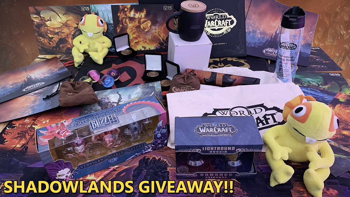 Arianna - I'm giving all these @Warcraft goodies away! Go to  to join the giveaway in celebration of the Shadowlands launch! Giveaway will end the 29th of November 🎁
