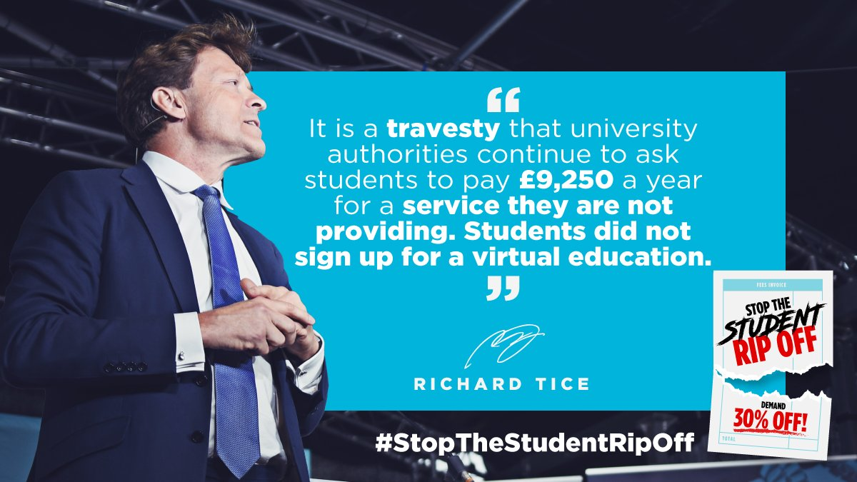 1000s of students have also signed expensive, long-term rental agreements fully expecting to be required to attend...in person 📰Read the article here: bit.ly/35REabh 👉Find out more & sign up here: reformparty.uk/students 👉Follow @StudentRipOff #StopTheStudentRipOff