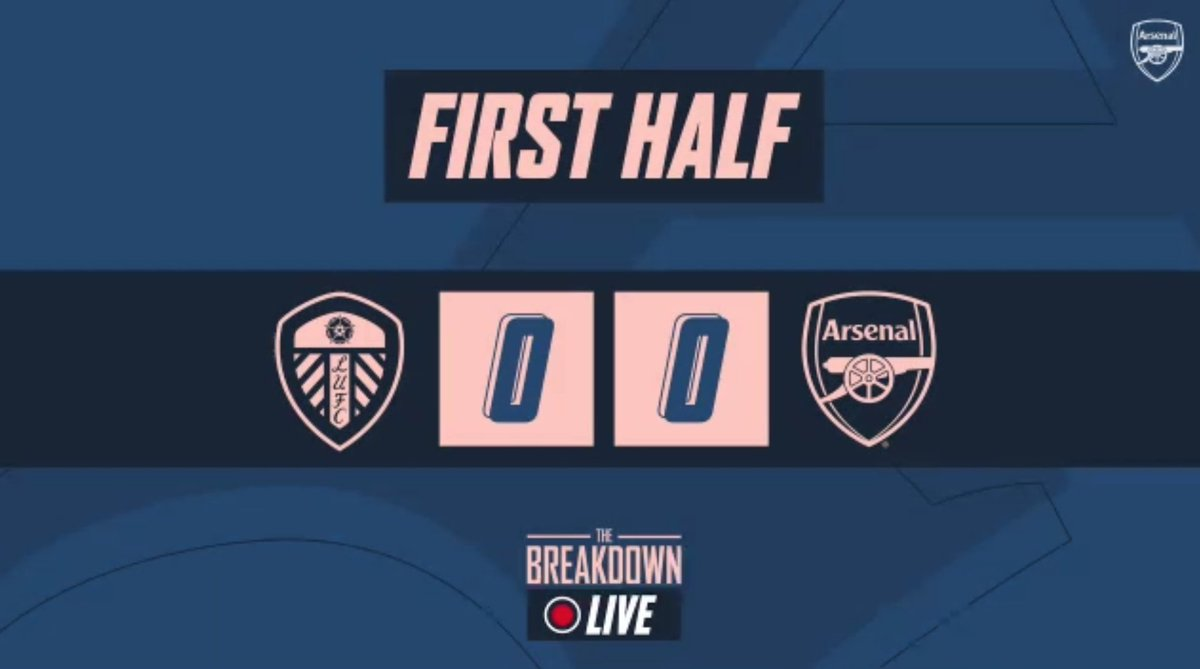 Be great to get your thoughts on this Arsenal 1st half display for The Breakdown Live…  Formation working? What's concerning you? What would you change? Who do you think is playing well?  Send over your views for the HT show!   Cheers 👍🏻