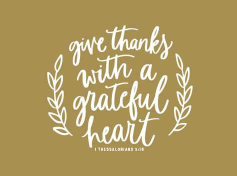 Happy Sunday! In all things give thanks.❤
