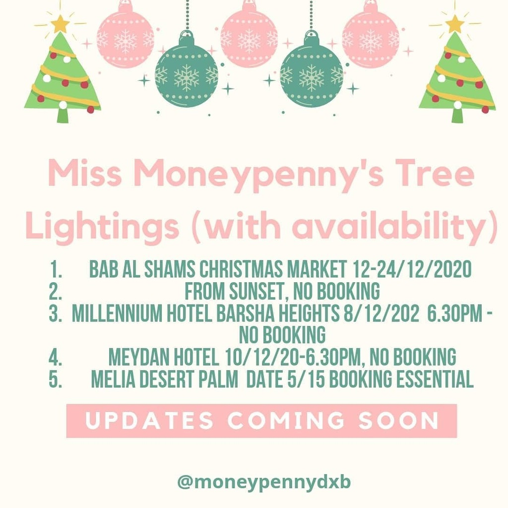 Updated list, get your festive jingle on!  #dubaichristmas #expatchristmas #freeevents #treelighting #christmaslights #dubaichristmas #familychristmas #budgetchristmas #christmasinthedesert #christmasholidays  #christmasstaycay #christmasearly #christmas… https://t.co/AhWS4QVTsR https://t.co/8qmt9E47qP