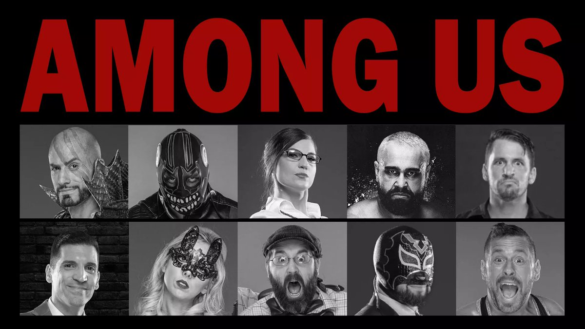 Its Sunday! That means more of the @AEW crew playing @AmongUsGame at 4PM EST! Twitch.TV/EvilUno Feat. @ToBeMiro, @SexyChuckieT, @ColtCabana, @BranCutler, @AllieWrestling, @ShutUpExcalibur, @wrestlingleva, @AlexHPforQVC & @mookieghana