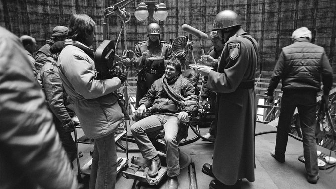 Happy 80th birthday, Terry Gilliam! Here he is on the set of his 1985 dystopian masterpiece BRAZIL