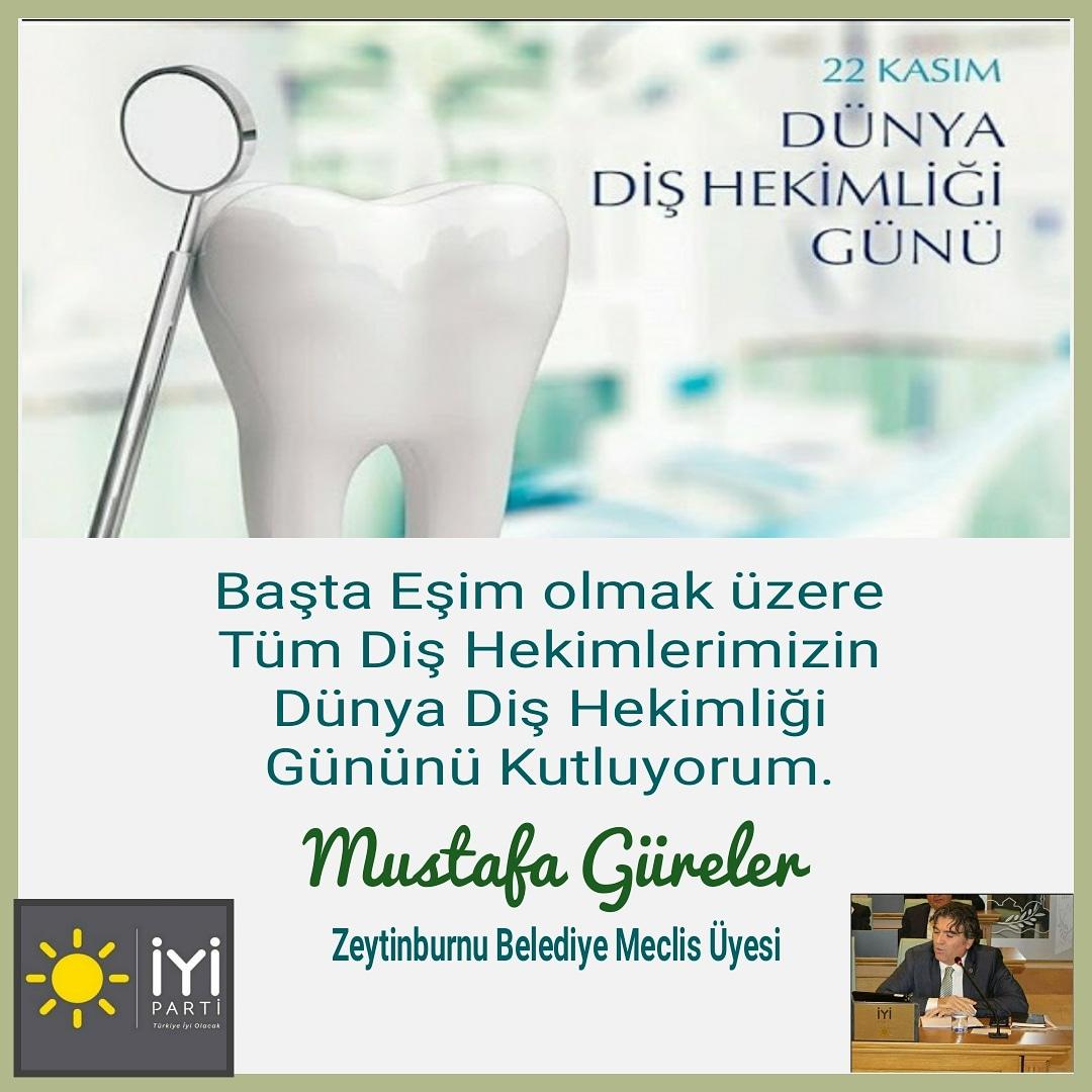 """Başta Eşim olmak üzere Büyük fedakârlıklarla Ağız ve Diş Sağlığı bilincini oluşturmak ve iyileştirilmesini sağlamak için çalışan tüm diş hekimlerimizin 22 Kasım Diş Hekimleri Günü""""nü kutluyor, sağlıklı günler diliyorum.  https://t.co/9SmuistDtB  #22kasımdişhekimlerigünü https://t.co/6FH5Z13bet"""