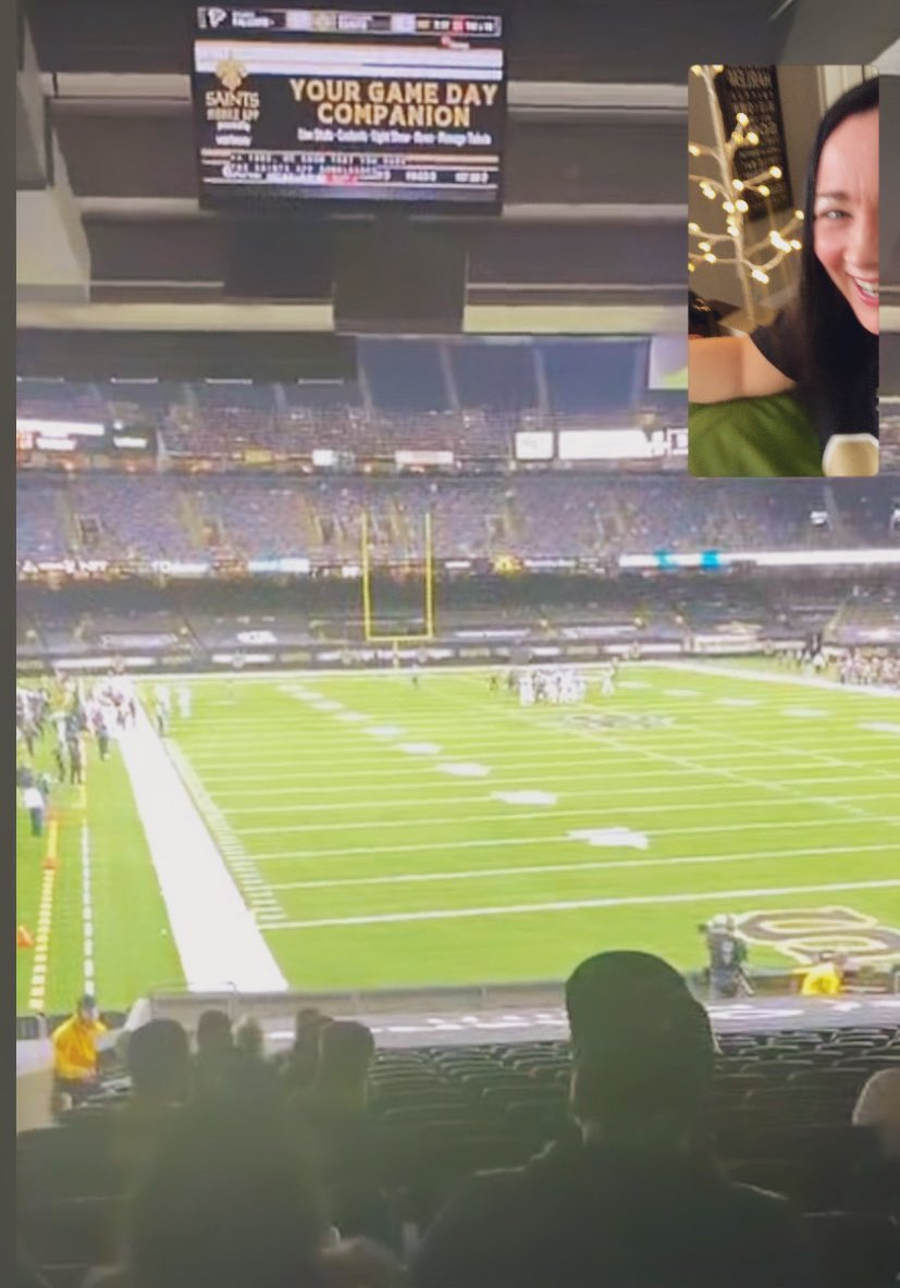 My buddy from ATL is at #Saints game and just FaceTimed me to say he wishes I was there and then proceeded to scream #RISEUP. Needless to say I ended that call, fast. LOL!! 🤣 #WhoDat #RivalryWeek #ATLvsNO