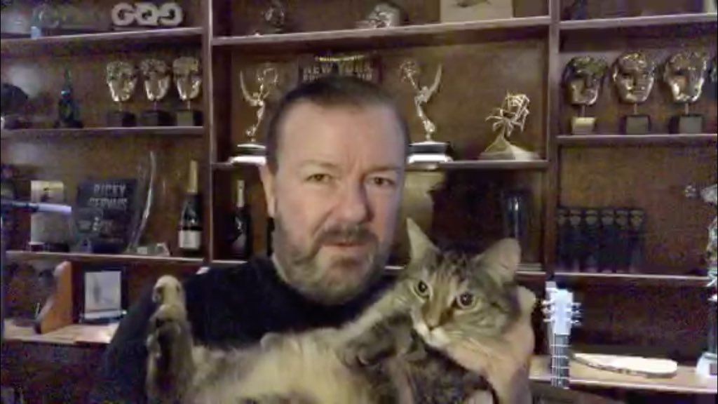 """Ohhhh, and WE LOVE THE PICKLE DANCE!                   """"🎵Do the Pickley Pickle🎵🎶""""         ❤️🐾❤️. Tatty Bye, Sir @rickygervais #ThankYouSirRicky"""