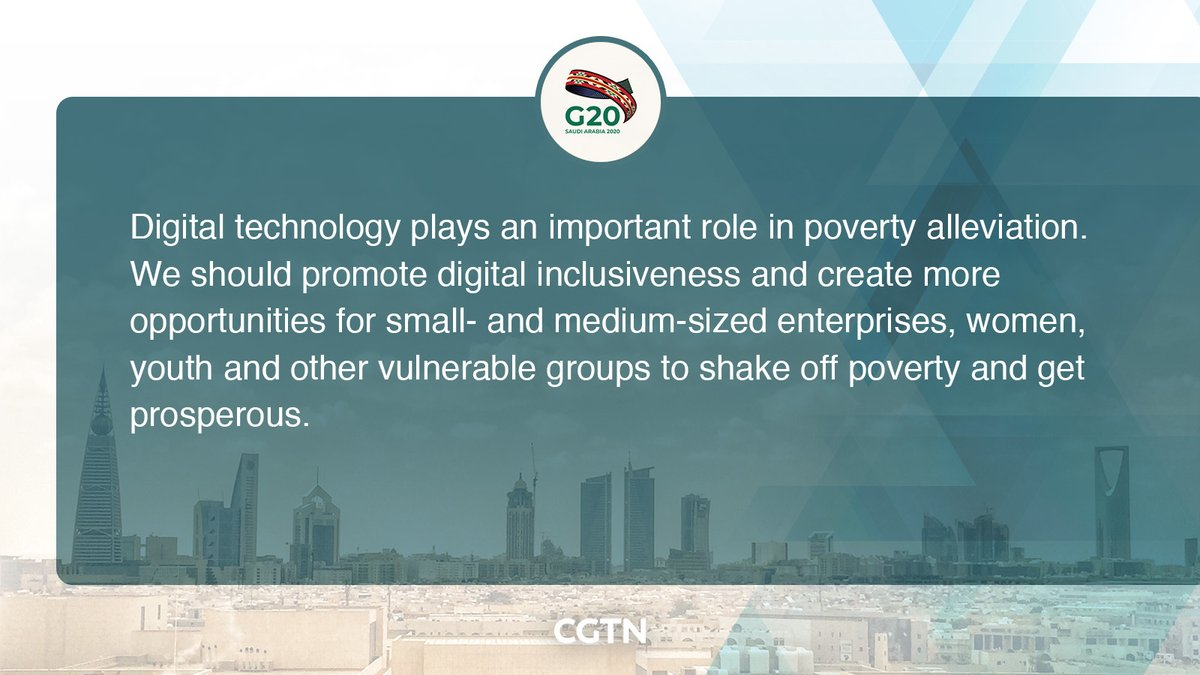 Chinese President Xi Jinping made a speech when attending Session II of the G20 Riyadh Summit via video link in Beijing on Sunday. Here are the key quotes of his remarks.