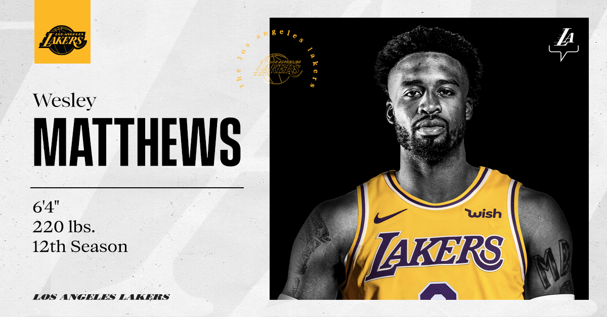 OFFICIAL: Wesley Matthews is joining the #LakeShow 🏹 https://t.co/UpRsKT2Aio