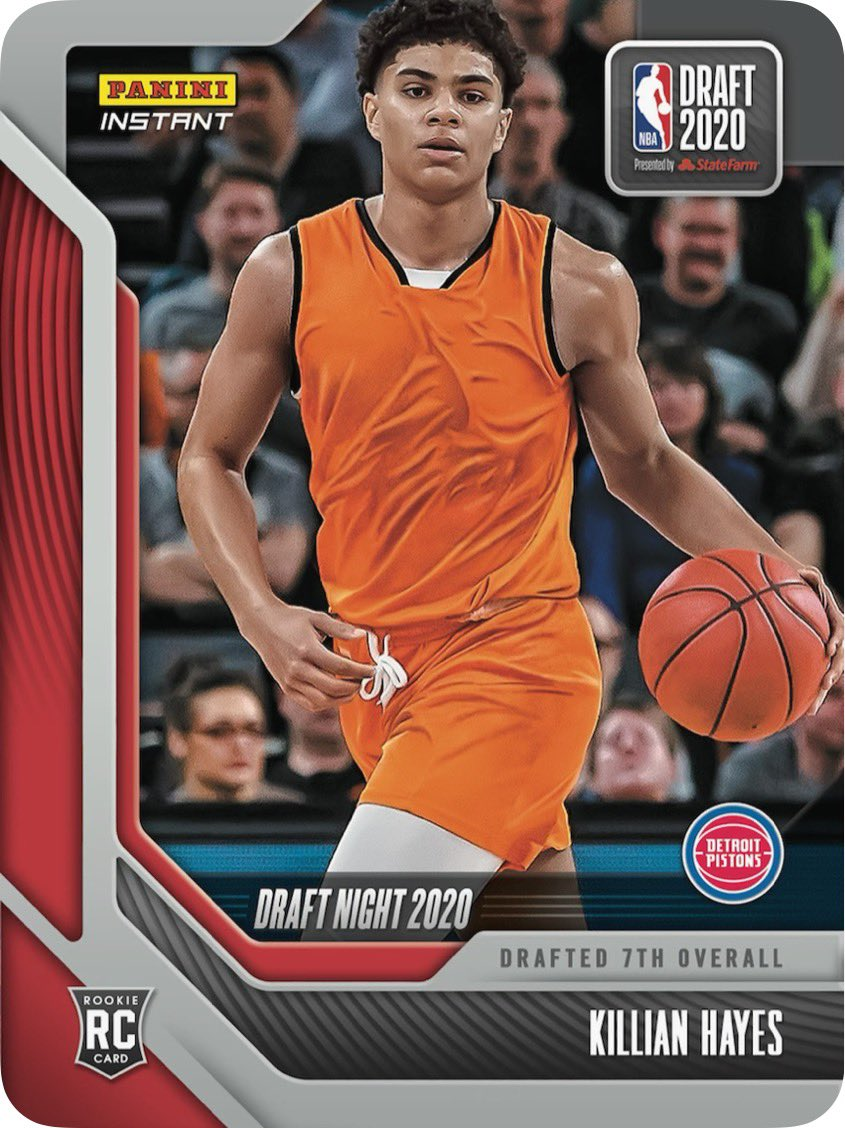 Honored to hear my name called🙏🏽 #DetroitBasketball made my dream come true! Time to grind @DetroitPistons. Check out my #PaniniInstant trading card now! #WhoDoYouCollect  https://t.co/dOa7791Iqh https://t.co/kNawMrIKGq