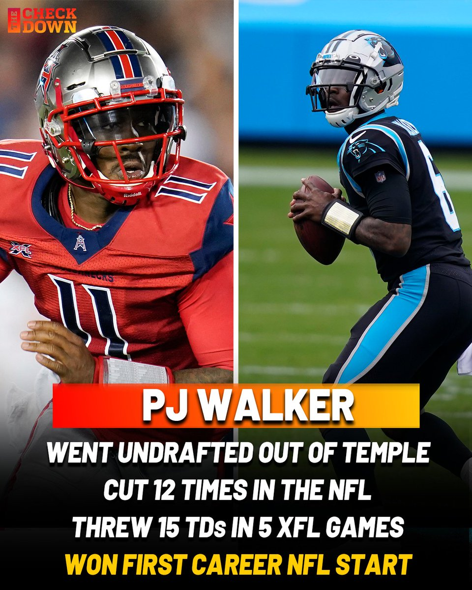 PJ Walker never gave up on the NFL dream and today it paid off 🙌 @pjwalker_5 @Panthers https://t.co/CJoRWaqe3r