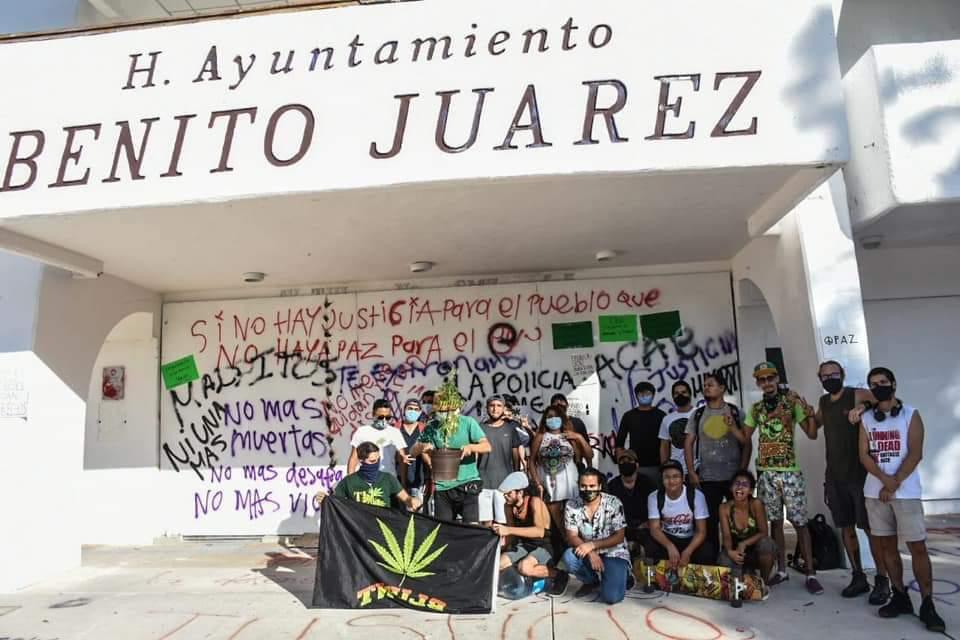 Marihuana libre no reglamentada: protestan en Cancún, acusan a Ley de Regulación de ser simulación