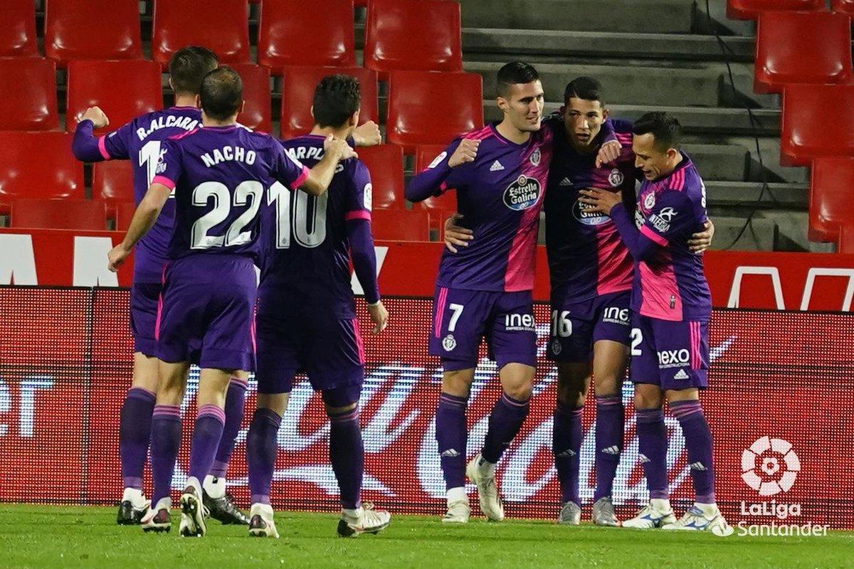 Granada sufrió su segunda derrota consecutiva al caer 1-3 vs Valladolid. La anotación local llego por medio de Domingos Duarte. Por el Valladolid lo hicieron Óscar Plano, Marcos André y Jota.  #LaLiga_LxF https://t.co/LtixoQR2GR