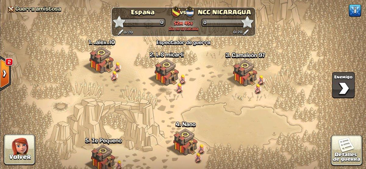 Todo preparado para la guerra vs @Coc_Nicaragua en la @ncchampionship de Th10  Ven a vernos por el canal de @Deluxeluisete17  #VamosEspaña🇪🇦