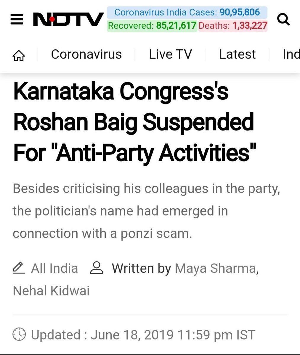 """@ndtv He was a """"Suspended"""" Congress MLA, right ? 🤨  @Pawankhera @brijeshkalappa"""