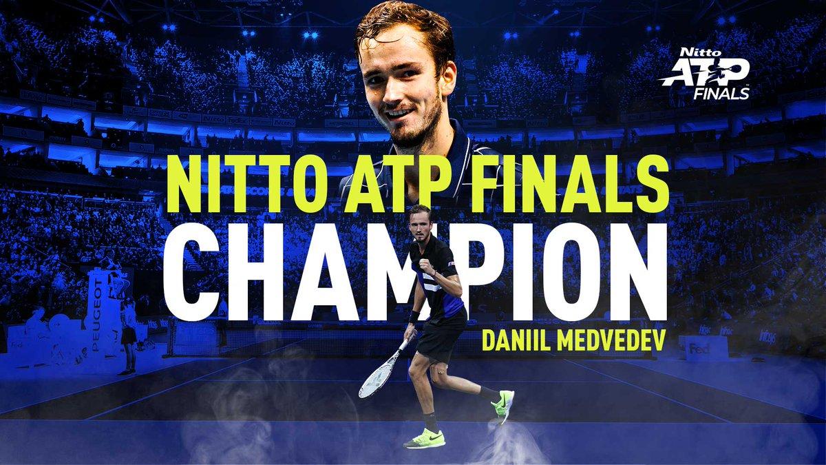 MEDVEDEV'S THE MAN IN LONDON!  🇷🇺 @DaniilMedwed is the 2020 #NittoATPFinals champion 🏆 https://t.co/B6VtaUKJfr