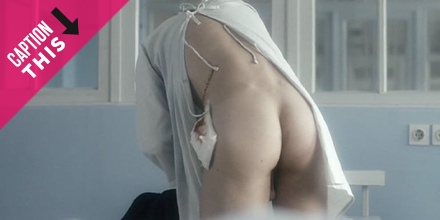 This ass is SICK! Find your best caption and check out the hottest actors to let us peek behind their hospital gown. 😮 mrman.com/hospital-gown-…