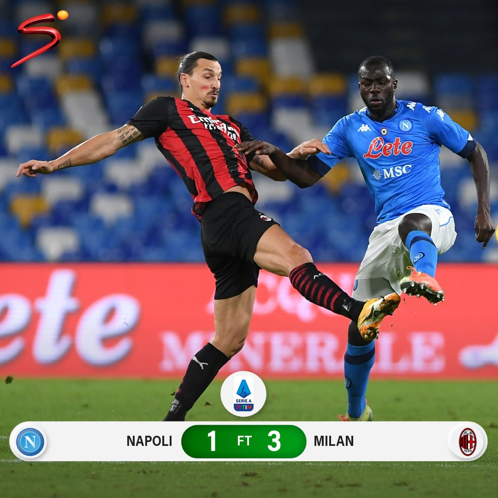 Supersport S Tweet Two Goals From Zlatan Ibrahimovic And A Late Strike From Jens Petter Hauge Hand Ac Milan The Win Over Napoli The Italian Giants Climb Back Into The Top
