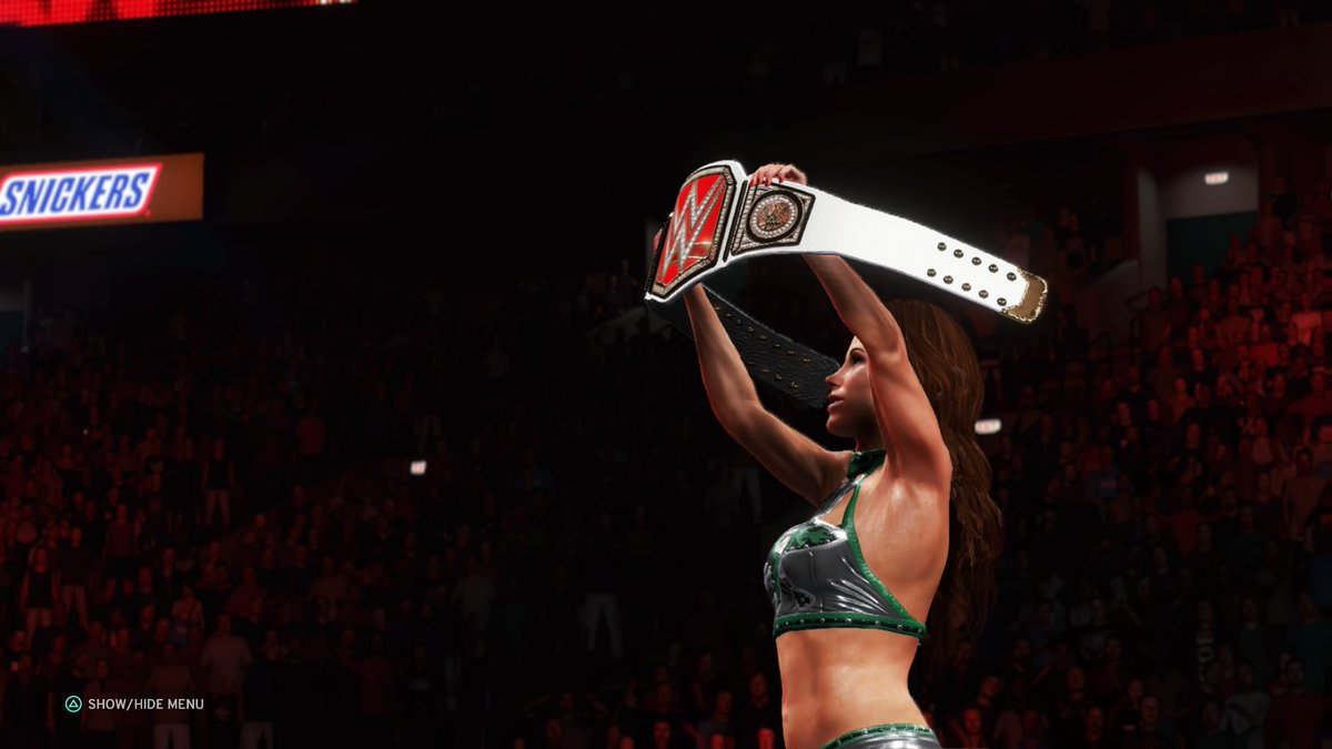 #MickieJames wasn't playing around tonight, taking #IIconics' #BillieKay to her limits, and is your #AndStill #RawWomensChampion!   #WWE #2K20 #WWE2K20 #RAW #WWERAW #NXT #WWENXT #SmackDown #Wrestle #Wrestling #ProWrestling https://t.co/Tvsw9iCv3D