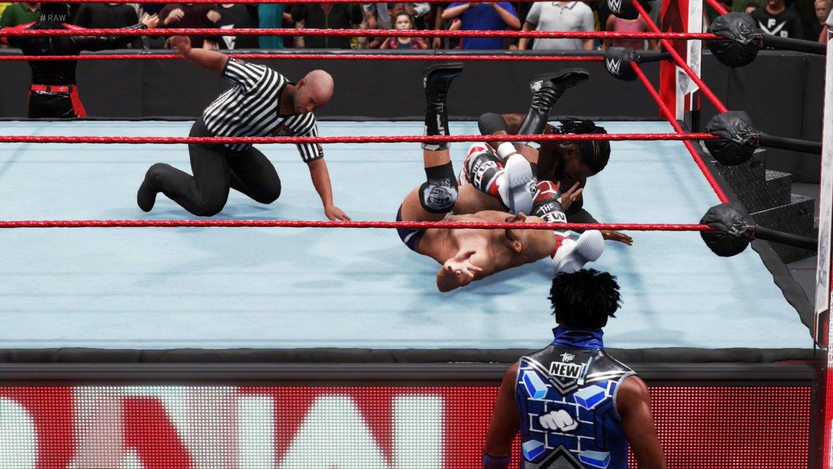 #TheNewDay's #KofiKingston writes the next chapter in the rivalry with #Cesaro & #ShinsukeNakamura. He pins the Swiss with an SOS!  #WWE #2K20 #WWE2K20 #RAW #WWERAW #NXT #WWENXT #SmackDown #Wrestle #Wrestling #ProWrestling https://t.co/Jir2MAXJgx