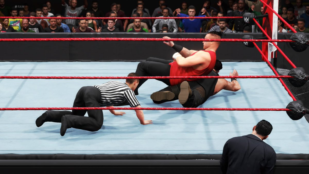 A low-blow did it, but #DabbaKato is Raw's new top monster! The score is now 2-1 in his favour over #BraunStrowman.  #WWE #2K20 #WWE2K20 #RAW #WWERAW #NXT #WWENXT #SmackDown #Wrestle #Wrestling #ProWrestling https://t.co/LwlQzXmOc9