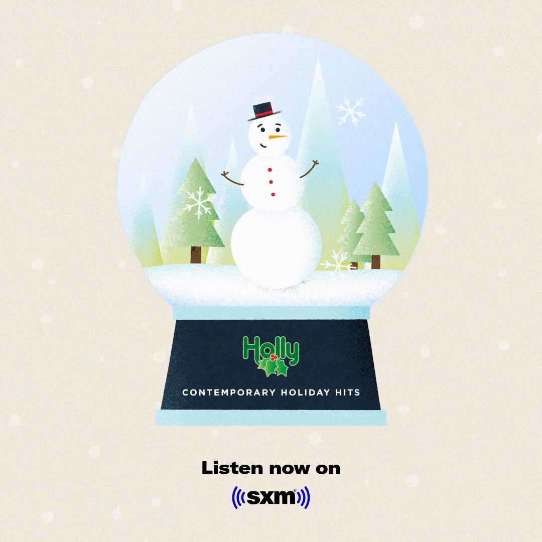 Hear contemporary holiday hits by @MariahCarey, @MichaelBuble, @kellyclarkson, @PTXofficial, and more on Holly. 🎄