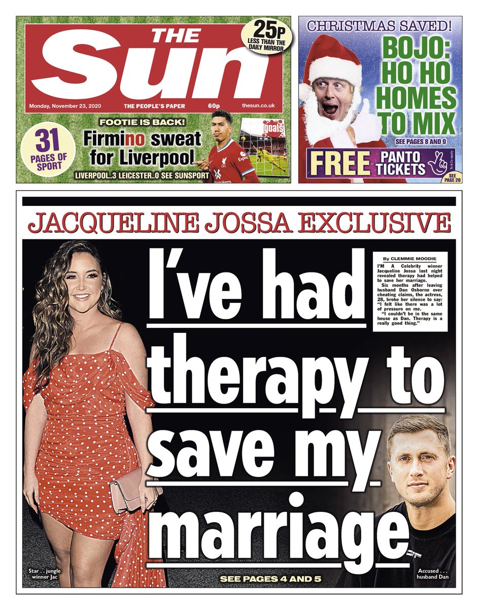 THE SUN: I've had therapy to save my marriage #TomorrowsPapersToday