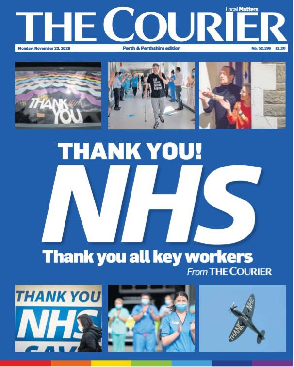 COURIER: Thank You! NHS #TomorrowsPapersToday