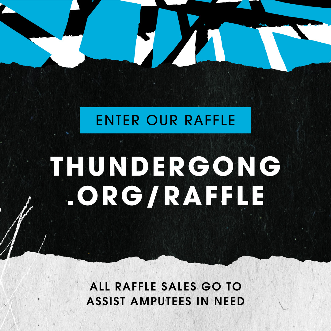 🚨🚨🚨LAST CHANCE TO RAFFLE!🚨🚨🚨  Get your #Thundergong! raffle tickets before it's too late. Tonight is the cutoff!!!   There are a ton of cool items and experiences that you could win and all proceeds go towards helping amputees in need. Enter now at